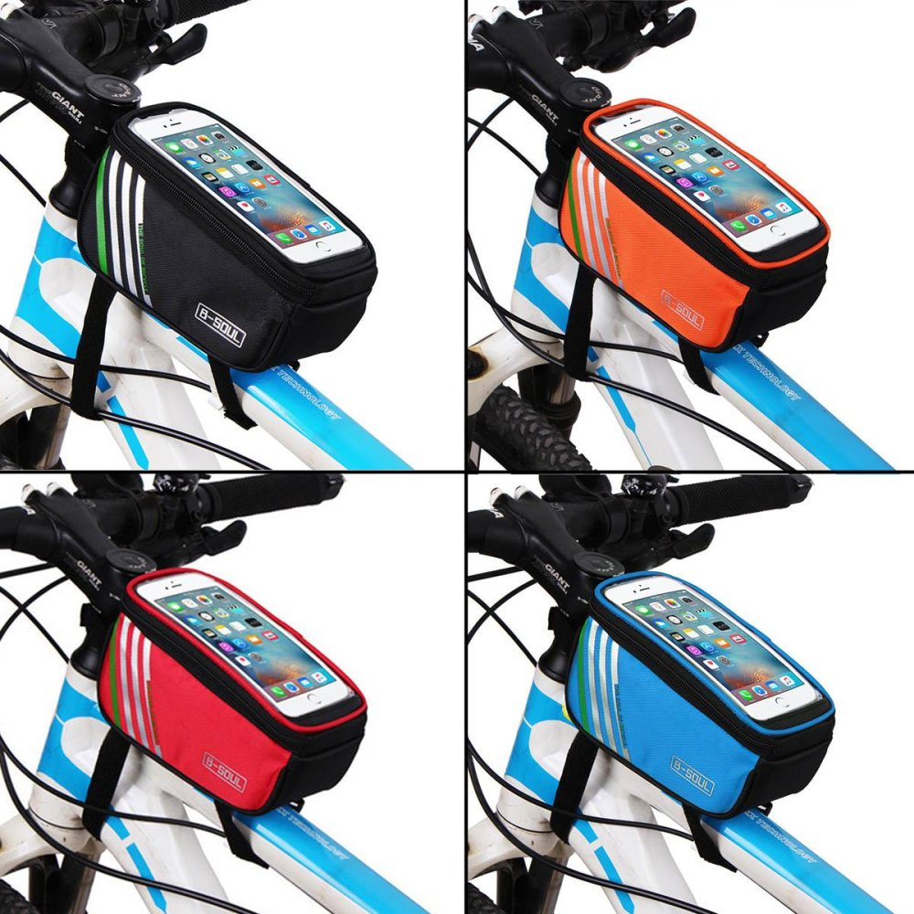 ... Bicycle Bags Bike Frame 5.7 inch Touch Screen Phone Holder FrameTube Fashion Storage Bag MTB Road ...