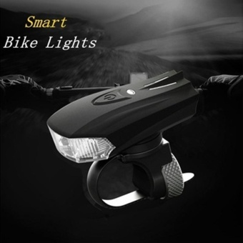 Bicycle LED Smart Sensor USB Rechargeable Head Light Bike Safety Warning Lamp