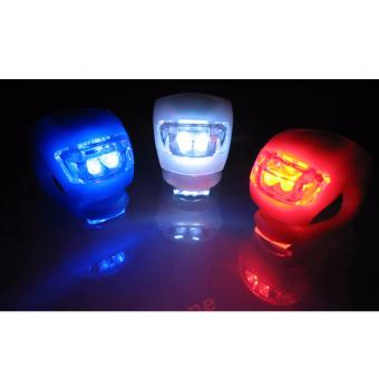 Bicycle Light Front and Rear Silicone LED Bike Light Set - BikeHeadlight and Taillight,Waterproof & Safety Road,Mountain BikeLights,Batteries Included 4 PCS ( Red / Black / Blue / White ) - 4