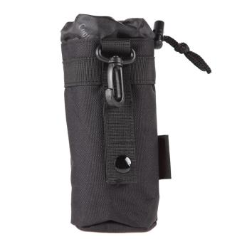 Black Outdoor Tactical Military Molle System Water Bottle Bag Holder