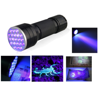 Blacklight Ink 21LED 21 LED UV Ultra Violet Portable FlashlightTorch Light