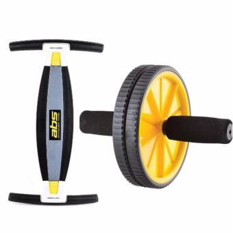 Body Builder ABS Advance Body System (Black) with Ab Rocket 110Wheel Total Body Exerciser (Yelllow)