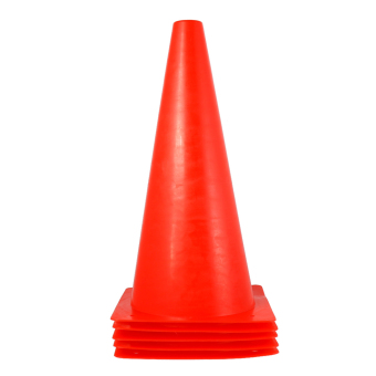 BolehDeals 5pcs Sport Soccer Football Training Cone Traffic Safety Bright Cone 32cm Red Price Philippines