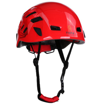 BolehDeals Outdoor Mountaineering Helmet Safety Climbing Rappelling Protector Gear Red
