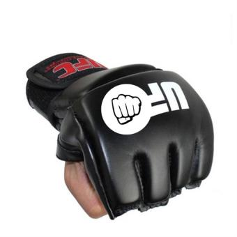Boxing Gloves Lengthened Half Finger Cuff Leather MMA Fighting Fight Tiger Muay Thai Boxing Gloves Glove Men and Women Boxeo