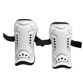 Buytra 1 Pair Competition Pro Soccer Shin Guard Pads Shinguard Protector White