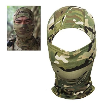 Camouflage Hood Ninja Outdoor Cycling Motorcycle Hunting Military Tactical Helmet Liner Gear Full Face Mask (All Terrain Camouflage) - intl