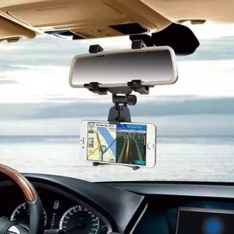 Car Rearview Mirror Mount Holder Stand Cradle For Cell Phone GPS -intl