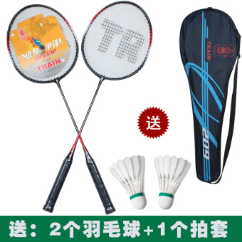 Carbon fiber double shot-badminton racket