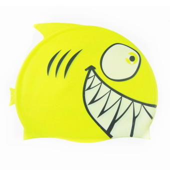 Cartoon men and women children waterproof silicone swimming cap children swimming cap
