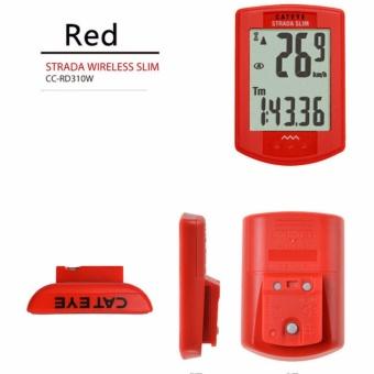 Cateye Bike Wireless Slim CC-RD310W Digital Computer CyclingSpeedometer(RED) - intl