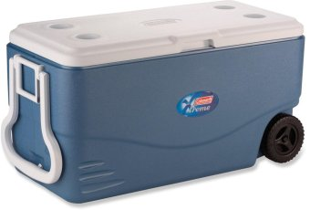 Coleman 100 Quart Extreme Wheeled Cooler (White/Blue)