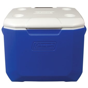 Coleman 60 Quart Wheeled Cooler (Blue/White)
