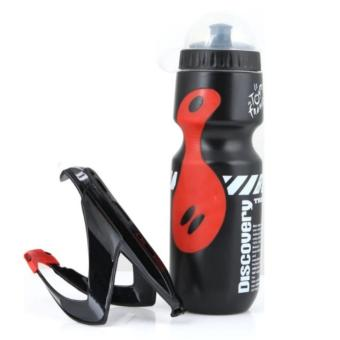 Combo Set Discovery Water Bottle (Black) #0027 with Bike Water Bottle Holder #0283