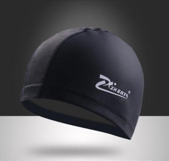 Comfortable PU Leather Women Men swimming cap