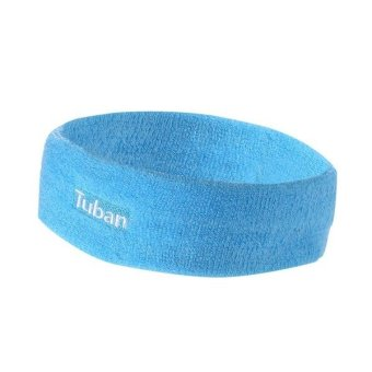 Cotton sports scarf Blue (Intl)
