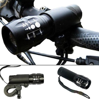 Cycling Bike Bicycle LED Front Head Light Torch Lamp With Mount - intl