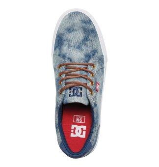 DC Men's Council Tx Se Low Cut (Indigo Bleached Vintage) - 4