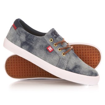 DC Men's Council Tx Se Low Cut (Indigo Bleached Vintage) - 5