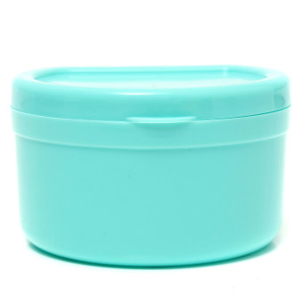 Dental Orthodontic Retainer Denture Storage Case Box MouthguardContainer Tray Light blue Audew - 2