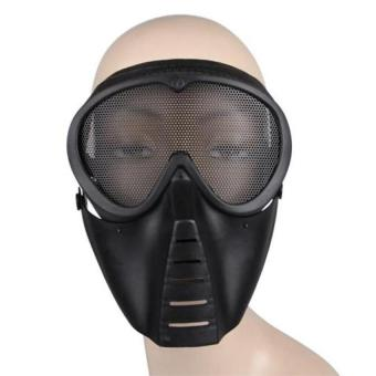 DHS Airsoft BB Gun Paintball Mesh Face Goggle Protect Mask - Intl