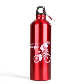 DHS Aluminum Alloy Cycling Bicycle Sports Water Bottle Red (Intl)