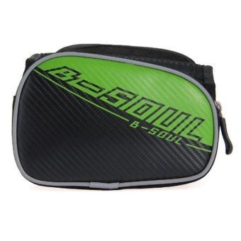 DHS Cycling Bicycle Frame Pannier Front Tube Bag Pouch (Green) - Intl