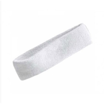 DHS Headband Sweatband Head Band for Basketball (White) - Intl