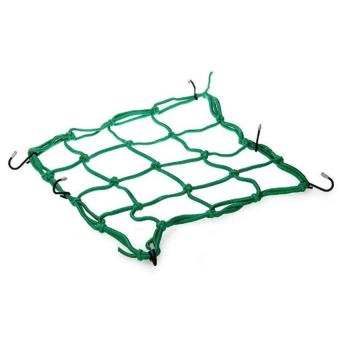 DHS Motorcycle 6 Hooks Hold Down Mesh Net Holder Green - INTL