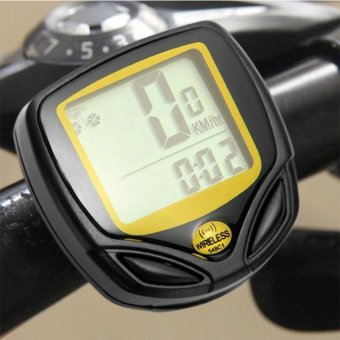 DHS Waterproof Bicycle Computer Speedometer (Yellow) - Intl - picture 2