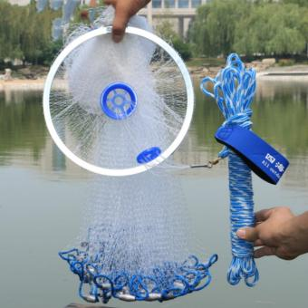Diameter 4.2M Fishing Net American Sign Cast Network Hand Net SpinNetwork Net Fishing Folding Fishing Network - intl