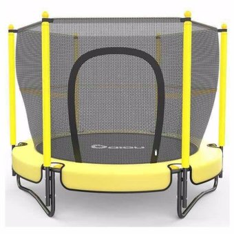 DIBU 5 Feet Childrens Trampoline with Safety Net (Yellow)