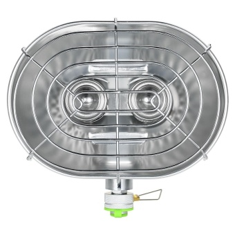 Double Head Outdoor Heater Portable Infrared Ray Camping HeatingStove Warmer Heating Gas Stove - intl - 2