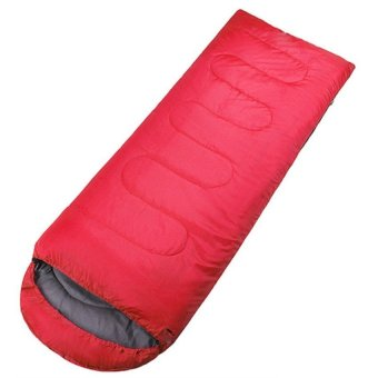 Down Ultralight Envelope Camping Sleeping Bag Outdoor (Red)