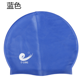 E silicone swimming cap stretch soft adult cap