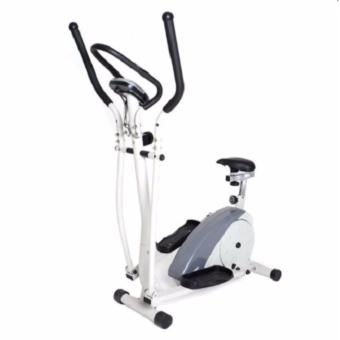 Elliptical Bike with Adjustable Seat (White/Grey)