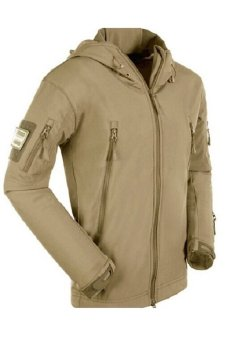 Esdy Soft Shell Military Windproof Jacket Khaki - 2