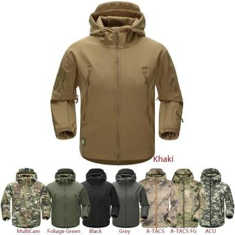 Esdy Soft Shell Military Windproof Jacket Khaki - 4