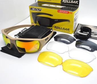 ESS ROLLBAR on the tactical goggles cycling sunglasses protectthemselves from blowing sand night vision Beige color - intl - 4
