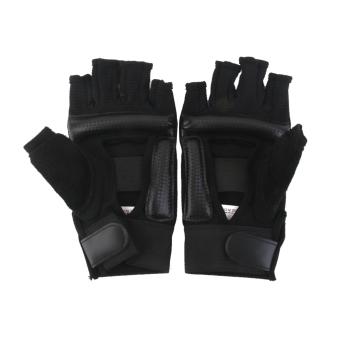 EVA Pad Taekwondo Hand Protector Gloves Karate Sparring Boxing Gear Black M - 2