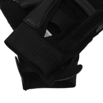 EVA Pad Taekwondo Hand Protector Gloves Karate Sparring Boxing Gear Black M - 3