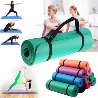 Extra Thick Yoga Mat Exercise With Carrying strap (Mint Green)