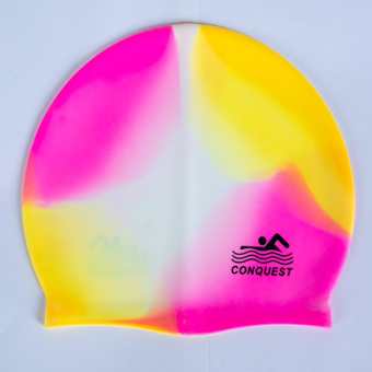 Fashion silicone adult children waterproof swimming cap