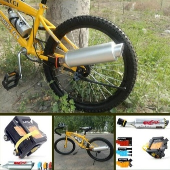 Fashion Turbo Spoke BMX Bike Mountain Bike Cycling Exhaust SystemDIY Decoration - intl