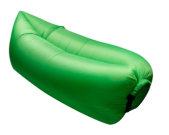 Fast Inflatable Banana Bed Airbed Sleeping Bed/Sofa (Green)