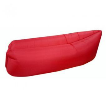 Fast Inflatable Banana Bed Airbed Sleeping Bed/Sofa (Red)