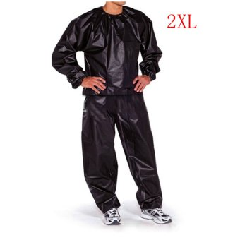 Fitness Loss Weight Sweat Suit Sauna Suit Exercise Gym Size L Black - 3