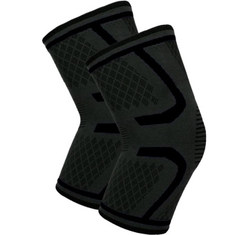 Fitness Running Cycling Knee Support Braces Elastic Nylon SportCompression Knee Pad Sleeve for Basketball Volleyball XL - intl
