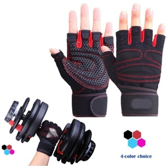 Fitness Weight Lifting Gloves Power Luvas Fitness AcademiaAnti-skidGuantes Protective Crossfit Sports Gloves Gym Guantes M - intl - 2