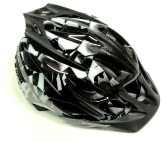 Fortress Mountain Bike Fox Helmet/Bicycle Helmet (White/Black/Red)